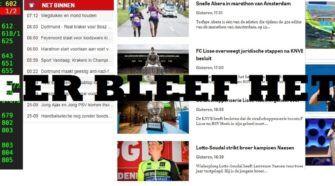 Media NOS. NU.nl. Telegraag, AD.nl Teletekst Face_off