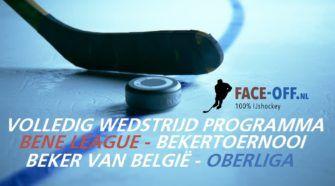 BeNe Liga, Bekertoernooi, ijshockey, Oberliga Face-Off