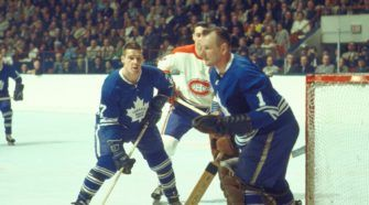 Johnny Bower Toronto Maple Leafs Face-Off
