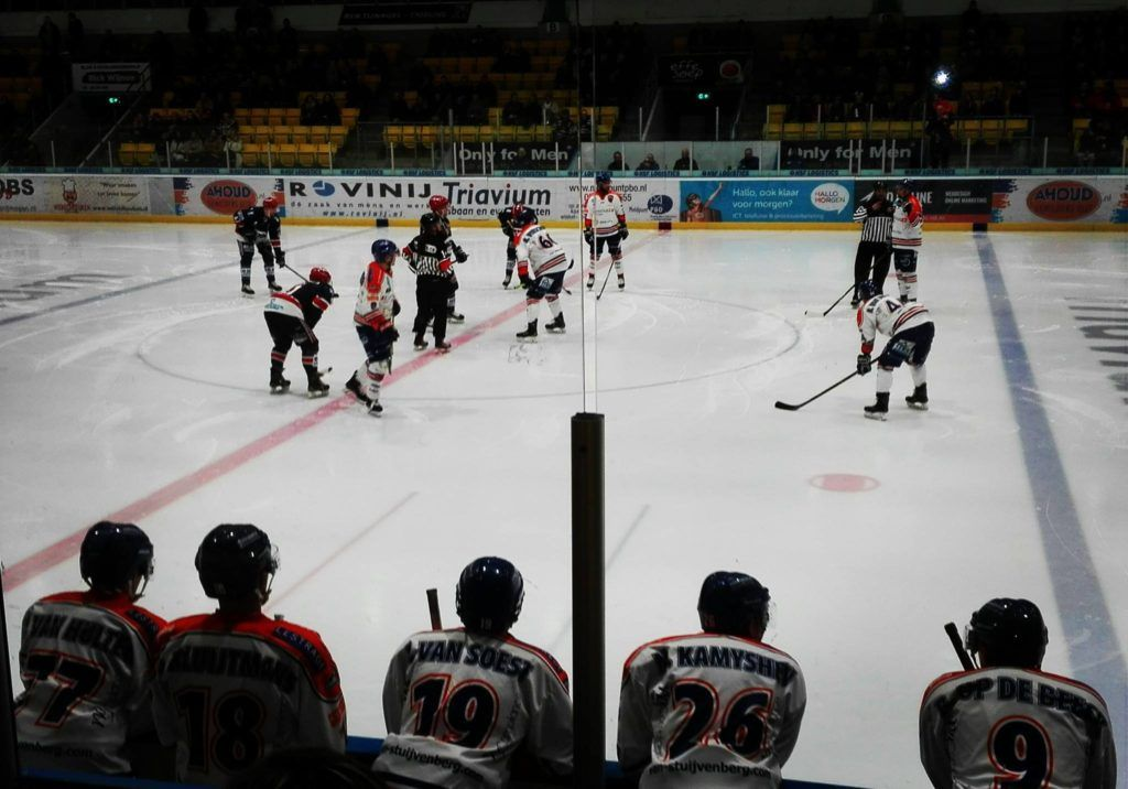 AHOUD Nijmegen Devils Eindhoven Kemphanen ijshockey Face-Off