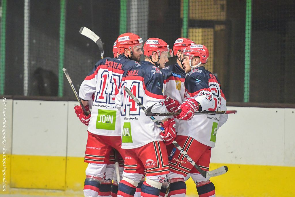 BeNe League IJshockey Face-Off Luik Bulldogs