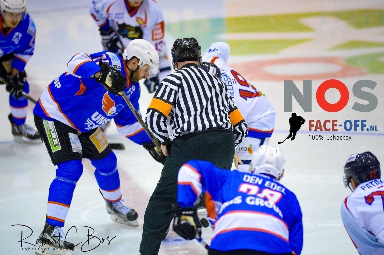 HIJS Hokij Den Haag UNIS Flyers Heerenveen Bekerfinale ijshockey Face-Off