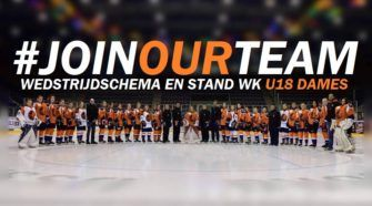 Nederland U18 Dames Join Our Team ijshockey Face-Off