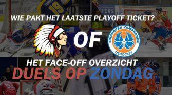 Playoffs Chiefs Leuven Eindhoven Kemphanen ijshockey Face-Off
