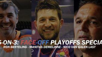 Ron Berteling Manitas Demelinne Nico van Galen Last ijshockey Face-Off