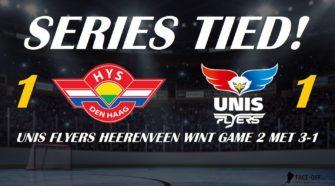 UNIS Flyers Heerenveen HIJS Hokij DEn Haag ijshockey Face-Off