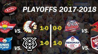Playoffs BeNe League ijshockey Face-Off