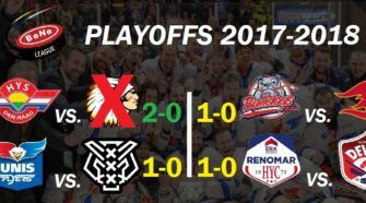 BeNe League Playoffs ijshockey Face-Off