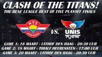 BeNe League Finale HIJS Hokij Den Haag UNIS Flyers Heerenveen IJshockey Face-Off