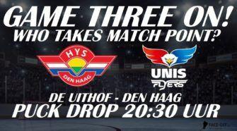HIJS Hokij Den Haag UNIS Flyers Heerenveen BeNe League playoffs ijshockey Face-Off