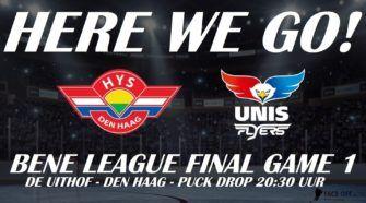HIJS Hokij Den Haag UNIS Flyers Heerenveen BeNe League IJshockey Face-Off