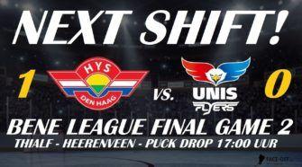 Unis Flyers Heerenveen HIJS Hokij Den Haag BeNe League Finale Playoffs IJshockey Face-Off