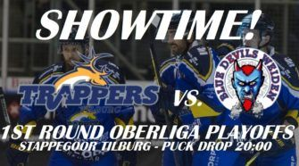 Tilburg Trappers Oberliga Playoffs IJshockey Face-Off