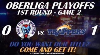 Tilburg Trappers Blue Devils Weiden Oberliga Playoffs IJshockey Face-Off