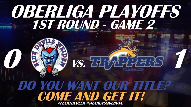 Tilburg Trappers Blue Devils Weiden Oberliga Playoffs IJshockey Face-Off