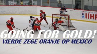 Oranje Dames ijshockey face-Off