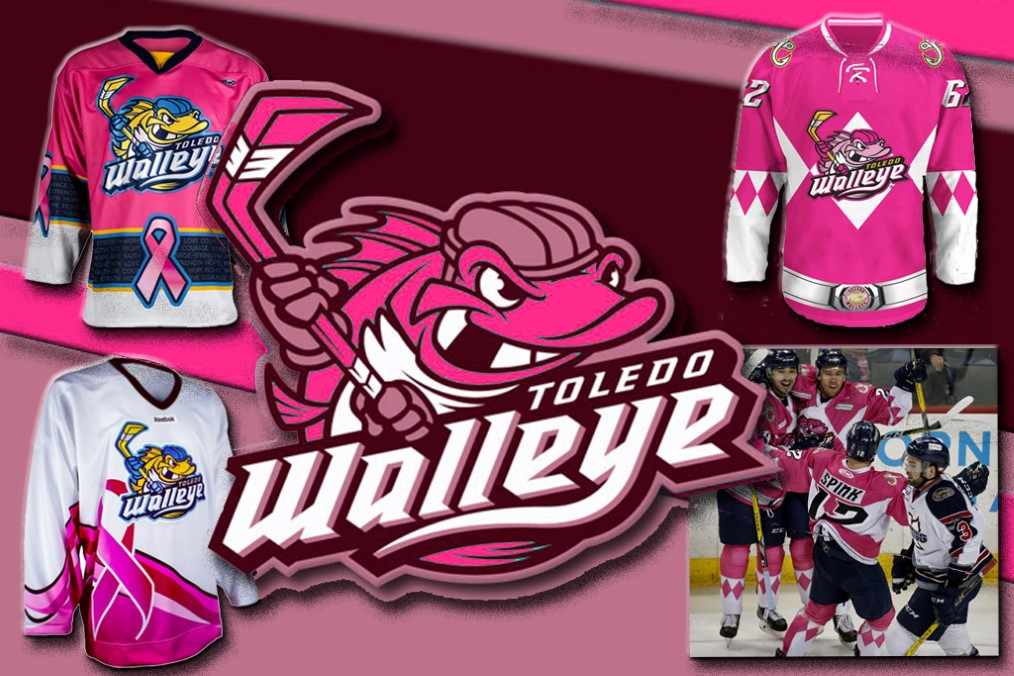 Toledo Walleye - Pink in the rink