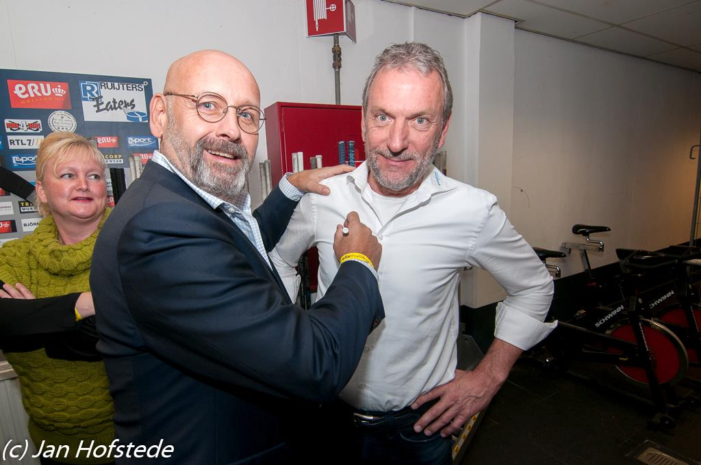 Coach Andy Tenbult en TM Peter Knops bij Eaters Limburg