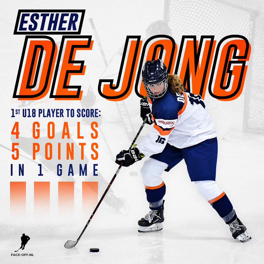 Esther de Jong Oranje U18 Dames